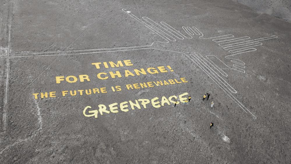 """""""C'est le temps du changement, le futur est renouvelable. Greenpeace."""""""