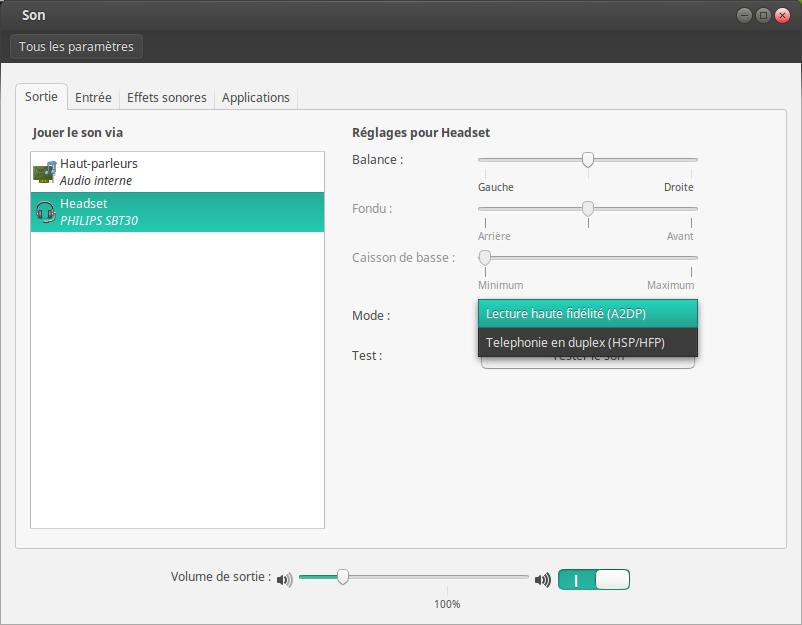 Réglage sous Linux Mint
