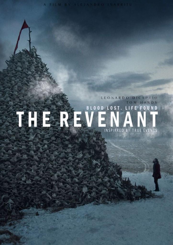Une des affiches du film The Revenant