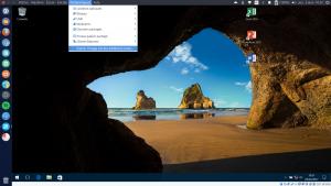 Capture d'écran de Windows 10 en virtualbox