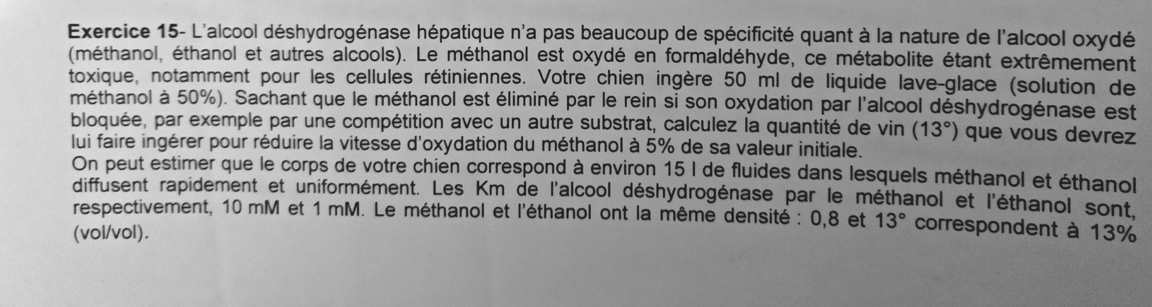 éthanol-méthanol-chien